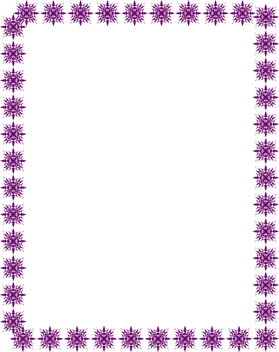 ... Illustration of a blank frame border of purple star shapes | # 4468 Purple Top Border Clip Art