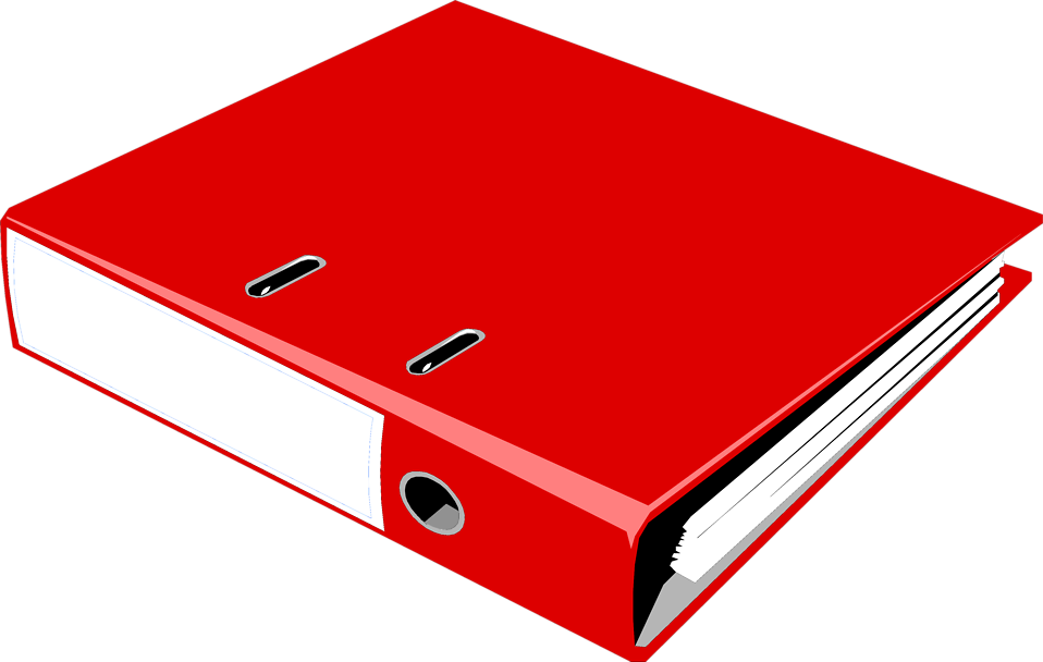 Illustration of a red notebook binder : Free Stock Photo
