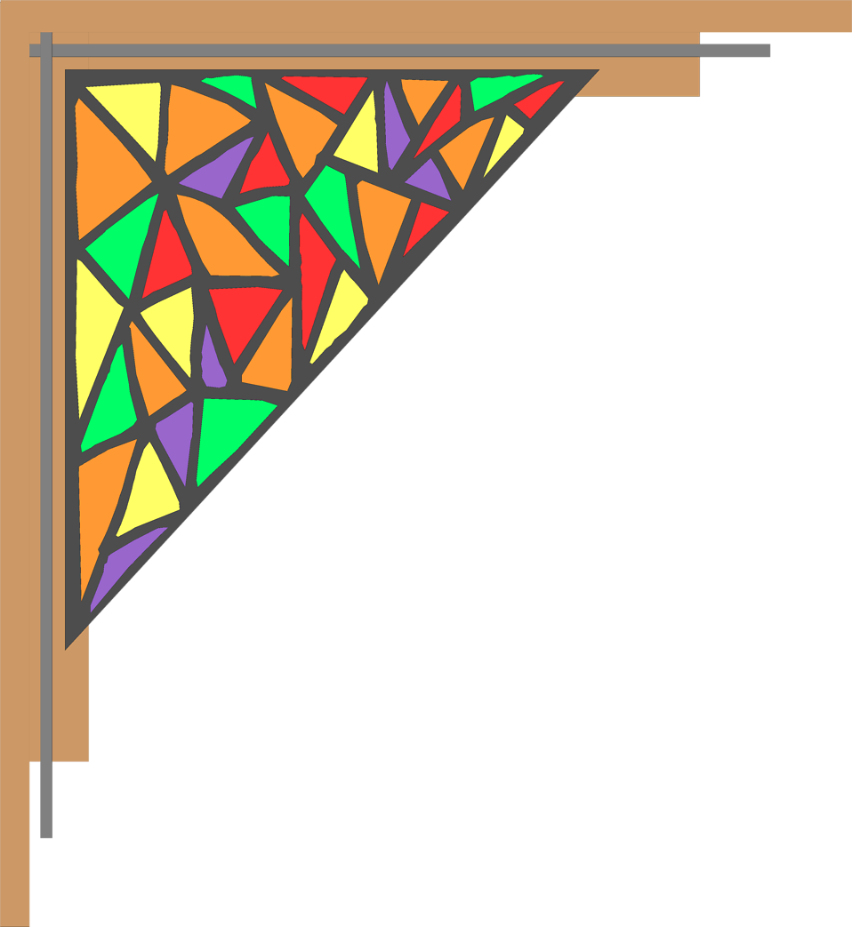 Illustration of an upper right frame corner : Free Stock Photo