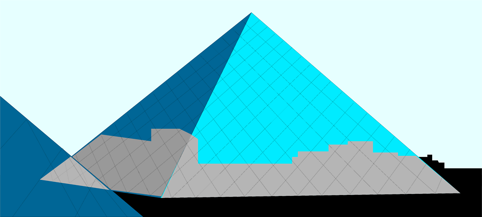 Illustration of the Louvre Pyramid : Free Stock Photo