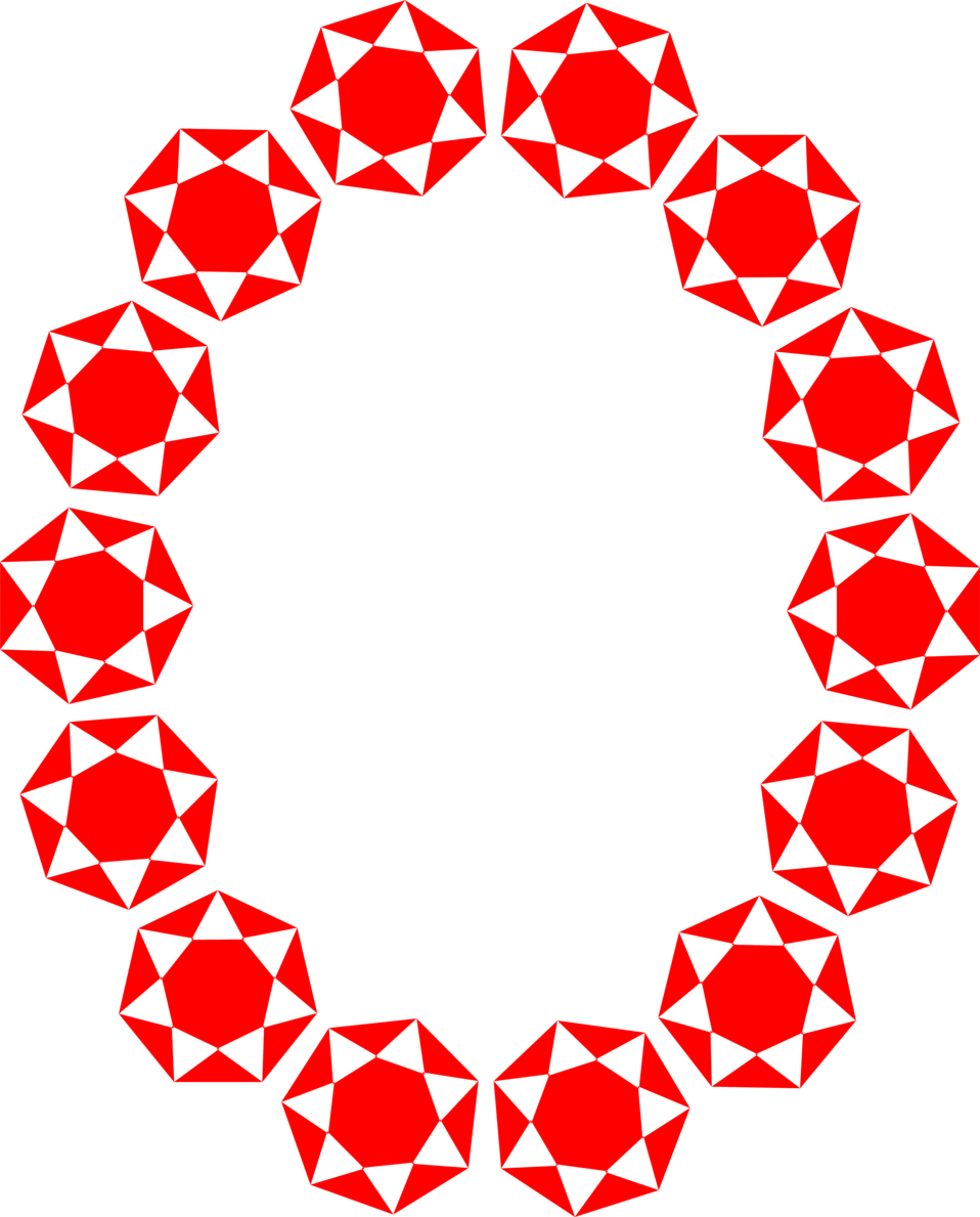 Illustration of a blank frame border of red star shapes : Free Stock Photo