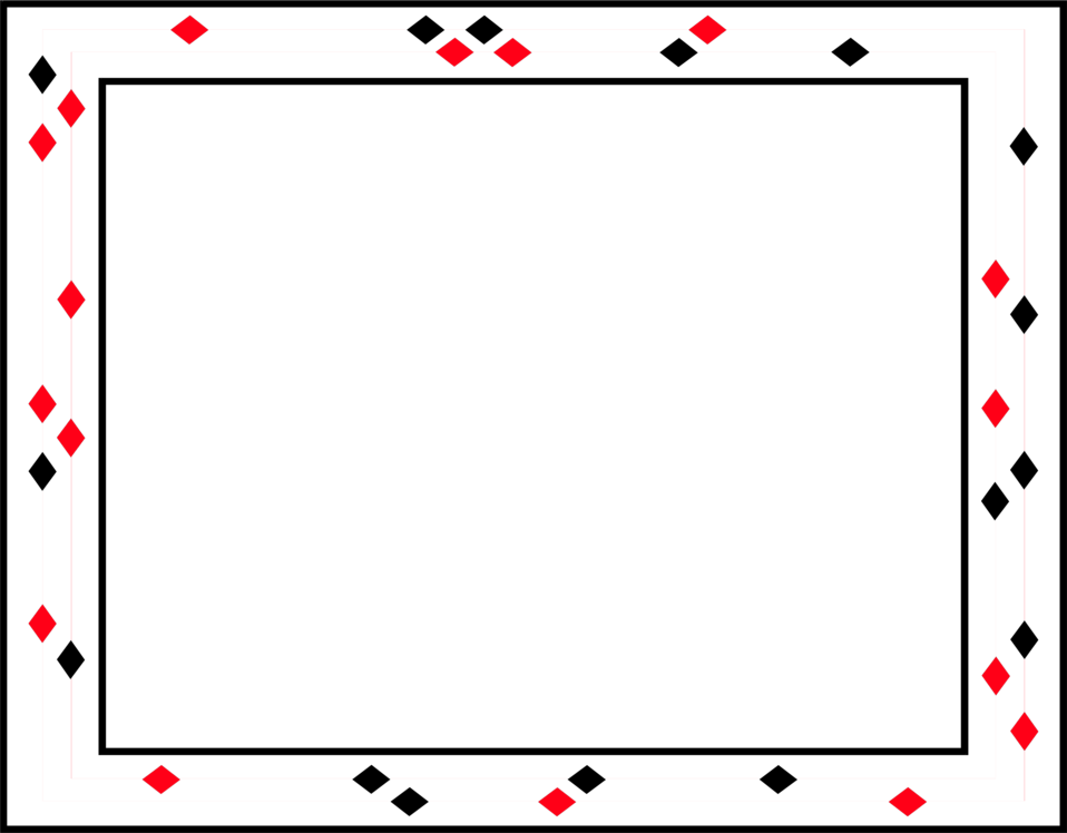 Illustration of a blank frame border of red and black diamonds. : Free Stock Photo
