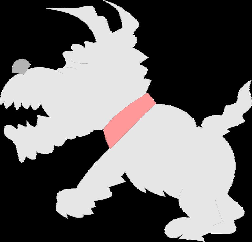 Illustration of a gray cartoon dog : Free Stock Photo