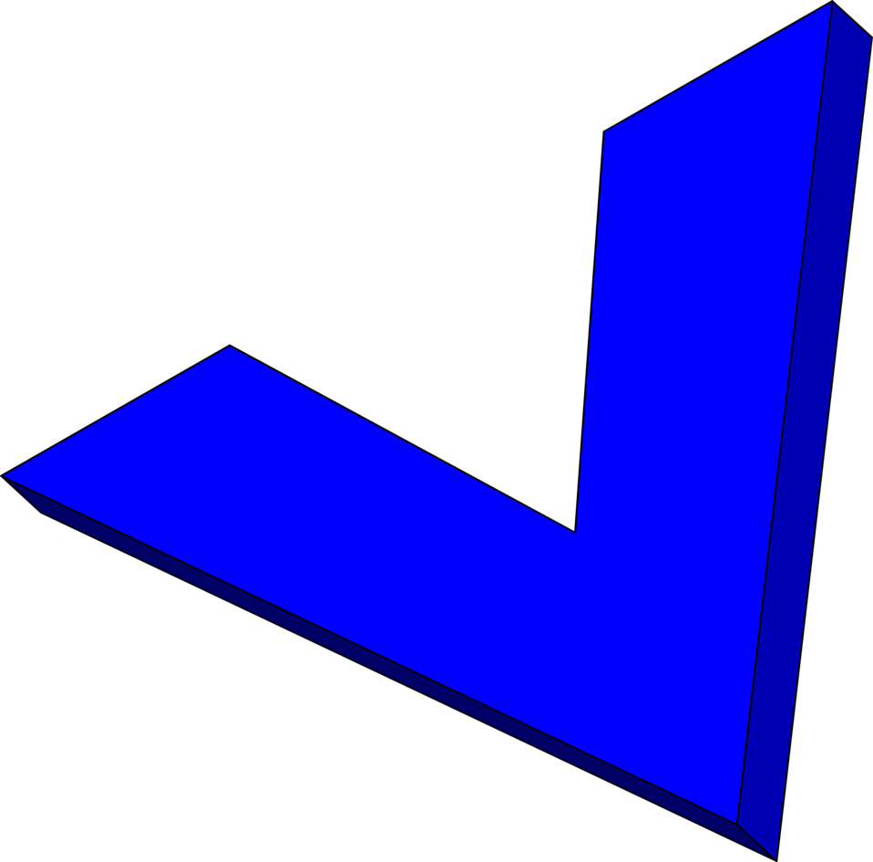 Illustration of a blue 3d arrow : Free Stock Photo
