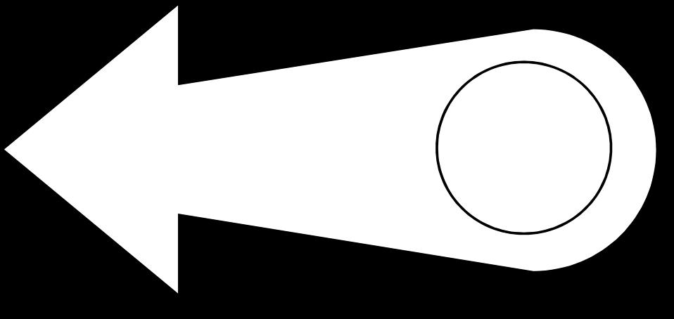 Illustration of a left facing arrow : Free Stock Photo