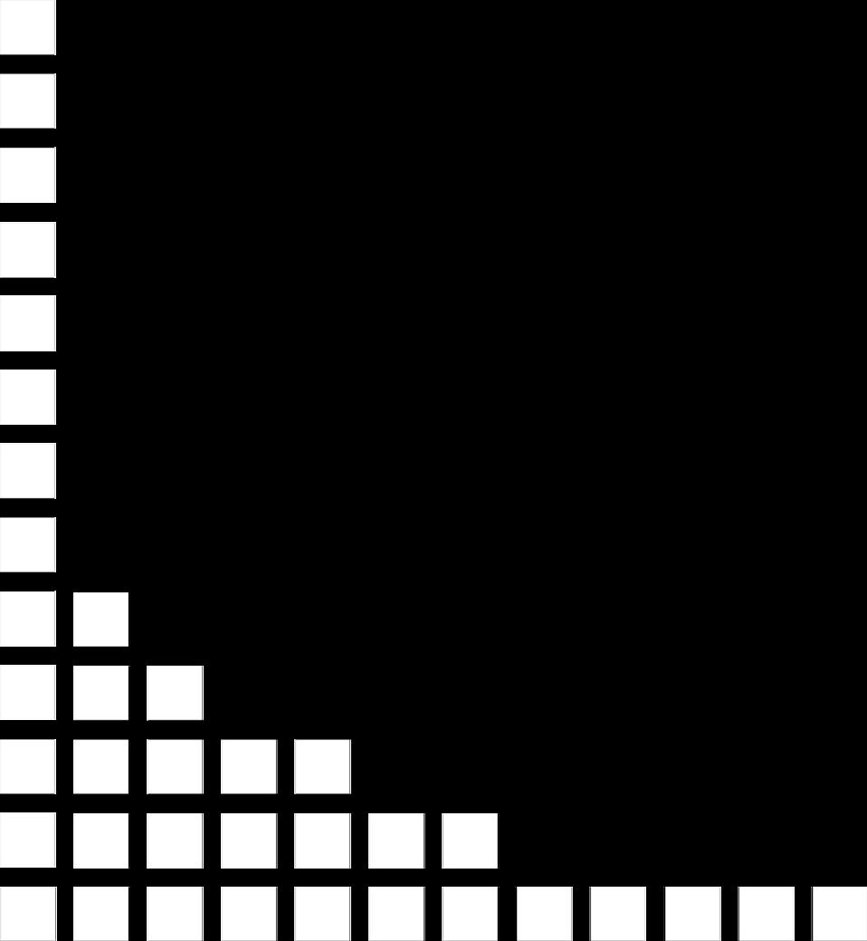 Illustration of a lower left frame corner of squares : Free Stock Photo