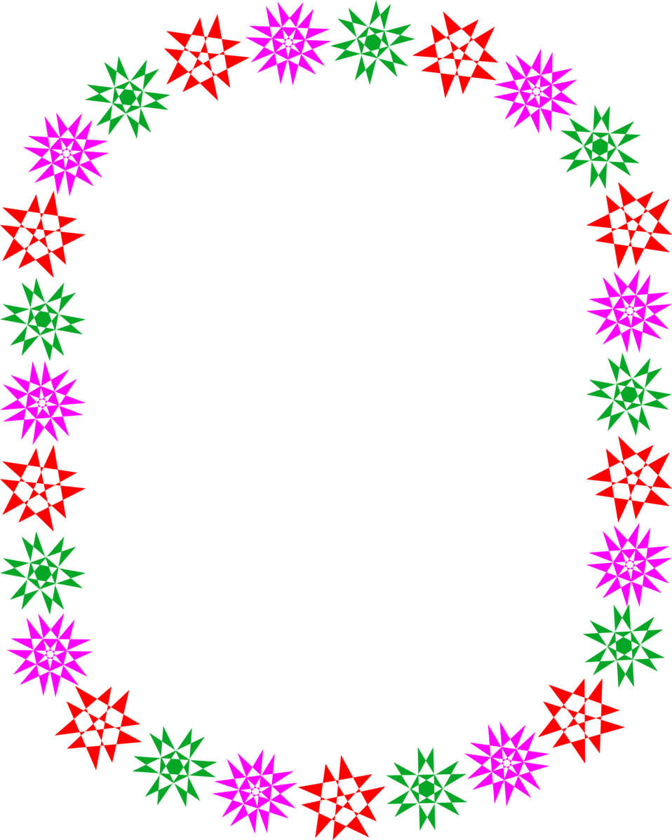 Illustration of a blank frame border of colorful star shapes : Free Stock Photo