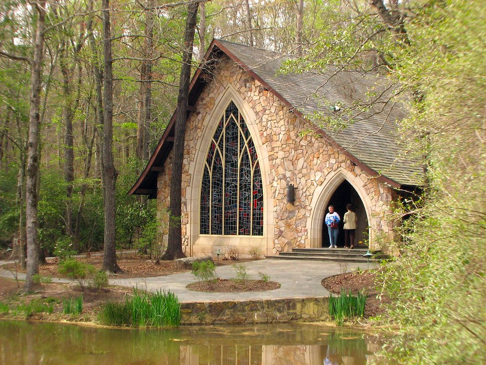 A small chapel in the woods.