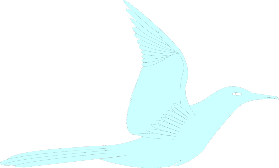 Illustration of a blue bird : Free Stock Photo