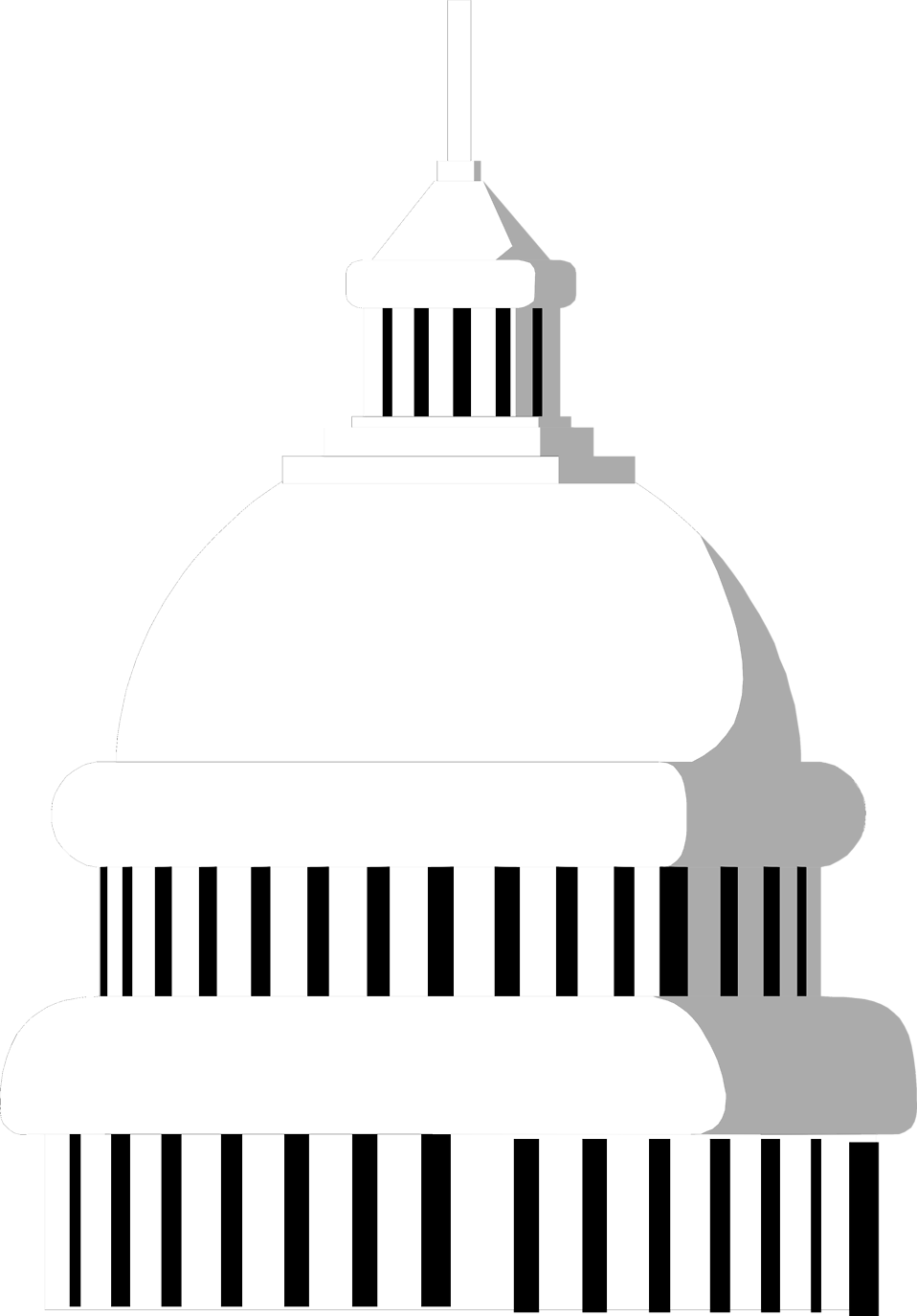 Illustration of the the dome of the US Capitol building  : Free Stock Photo