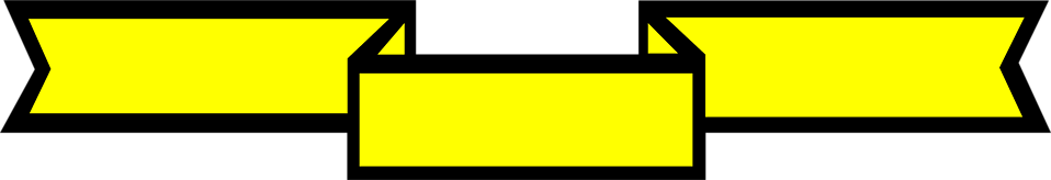 Illustration of a blank yellow banner : Free Stock Photo