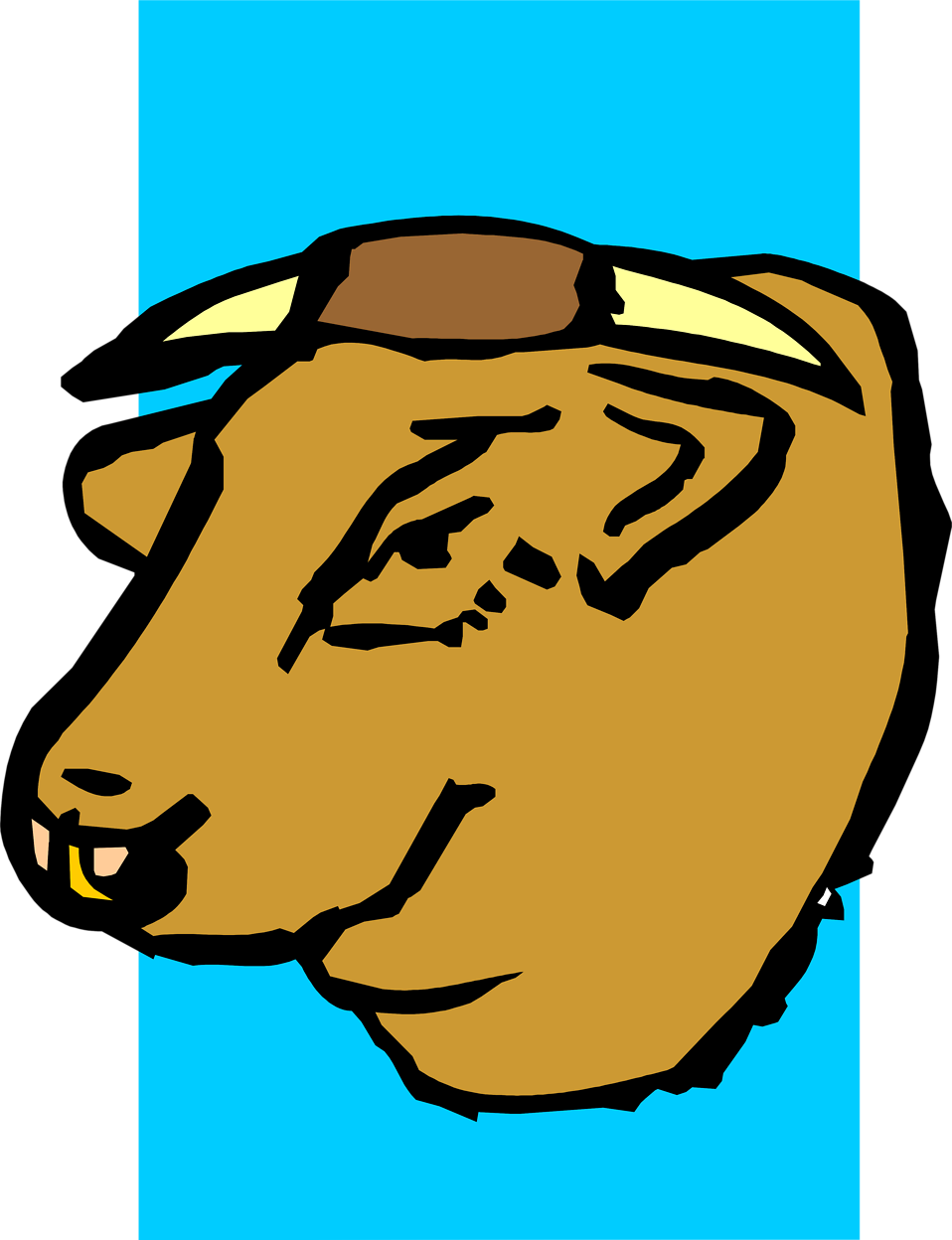 Illustration of a bull head : Free Stock Photo