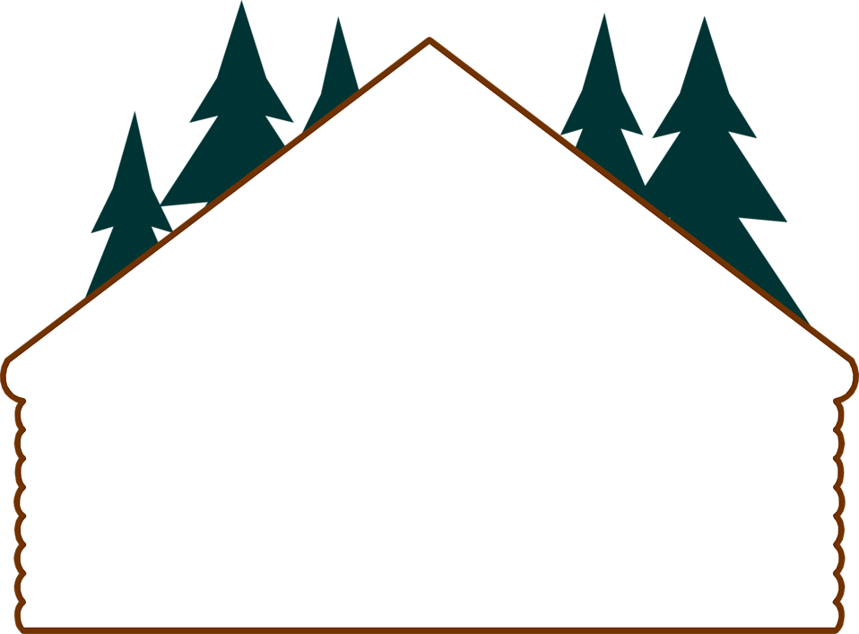 Illustration of a blank log cabin frame border : Free Stock Photo