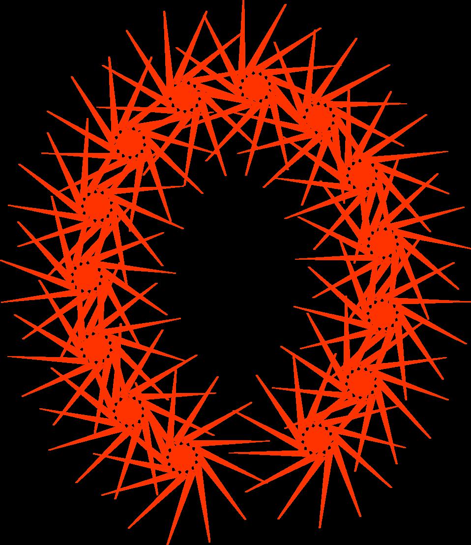 Illustration of a blank horseshoe shaped frame border : Free Stock Photo