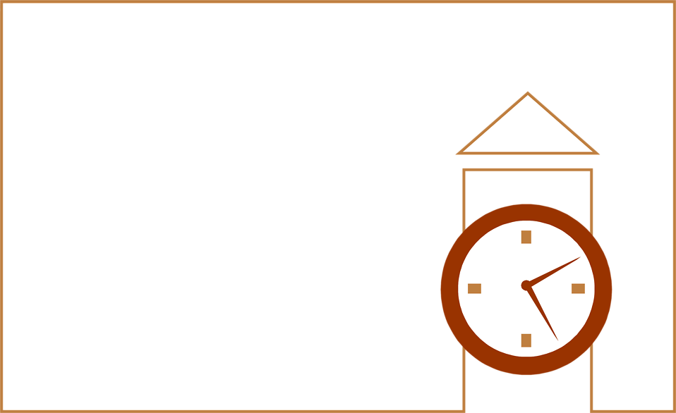 Illustration of a blank frame border with a clock : Free Stock Photo