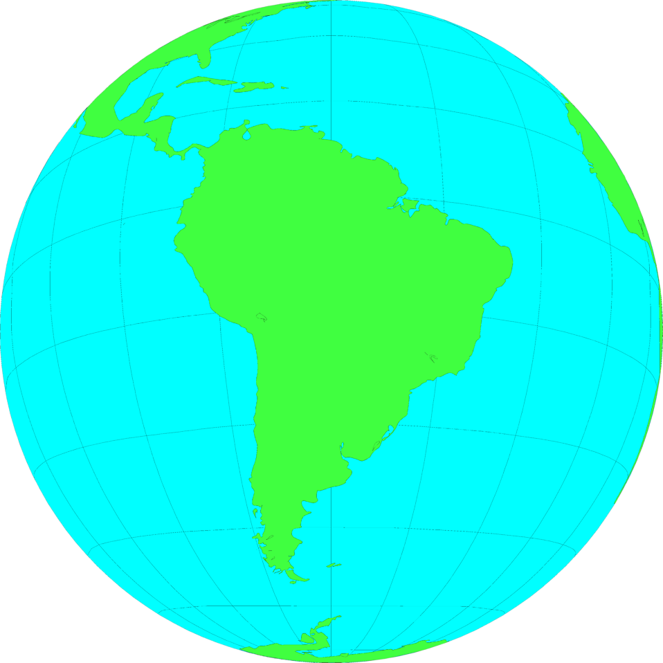 Illustration of a globe showing South America : Free Stock Photo