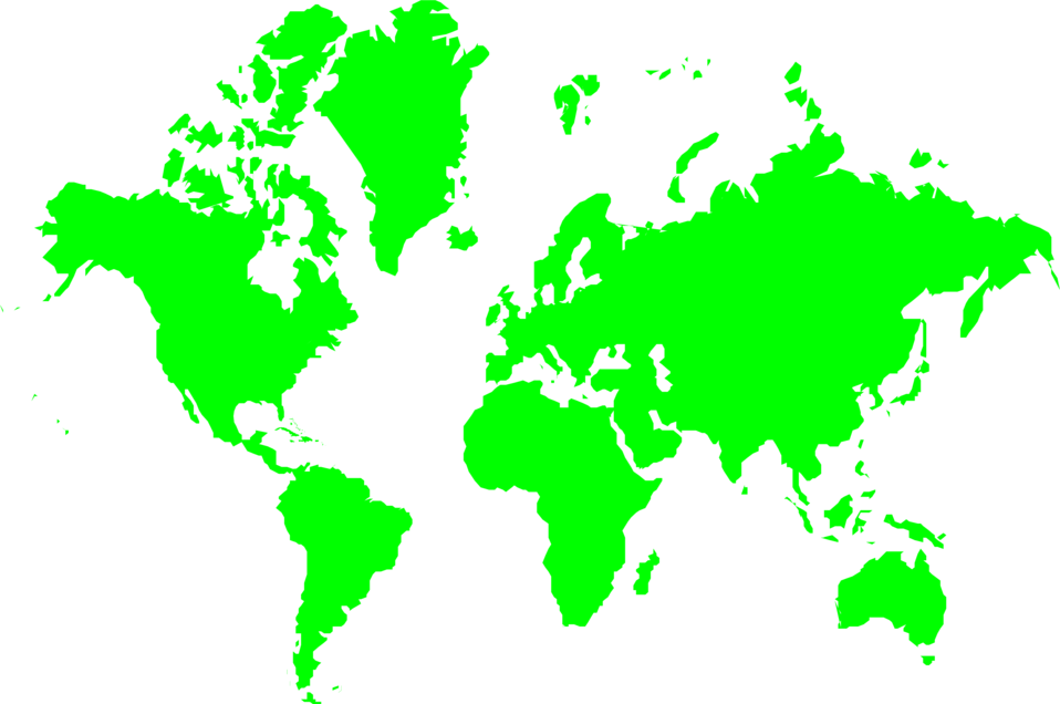 Illustration of a green map of the world : Free Stock Photo