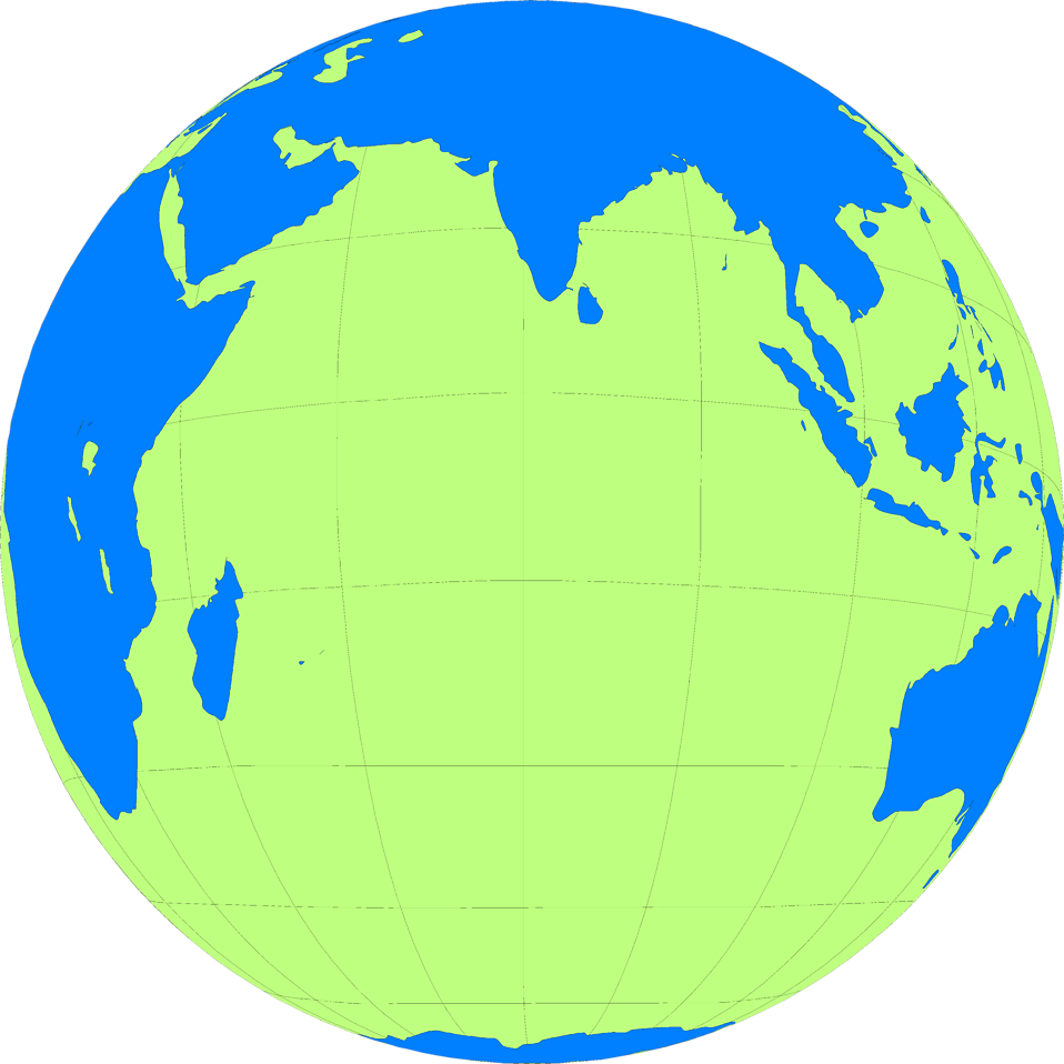 Illustration of a globe showing the Indian Ocean : Free Stock Photo