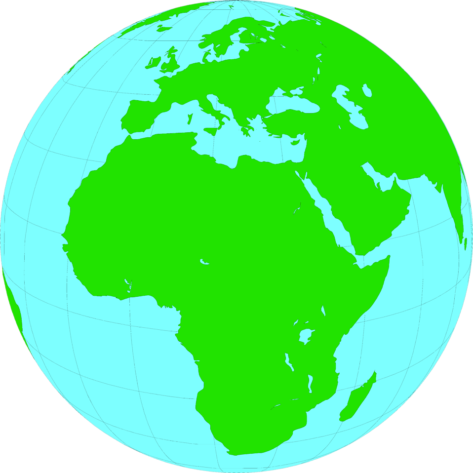 Illustration of a globe showing Africa : Free Stock Photo