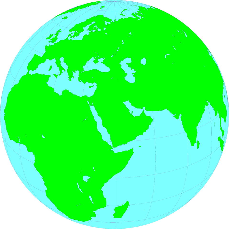 Illustration of a globe showing the Middle East : Free Stock Photo