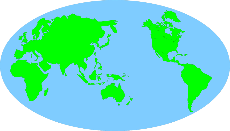 Illustration of a map of the world : Free Stock Photo
