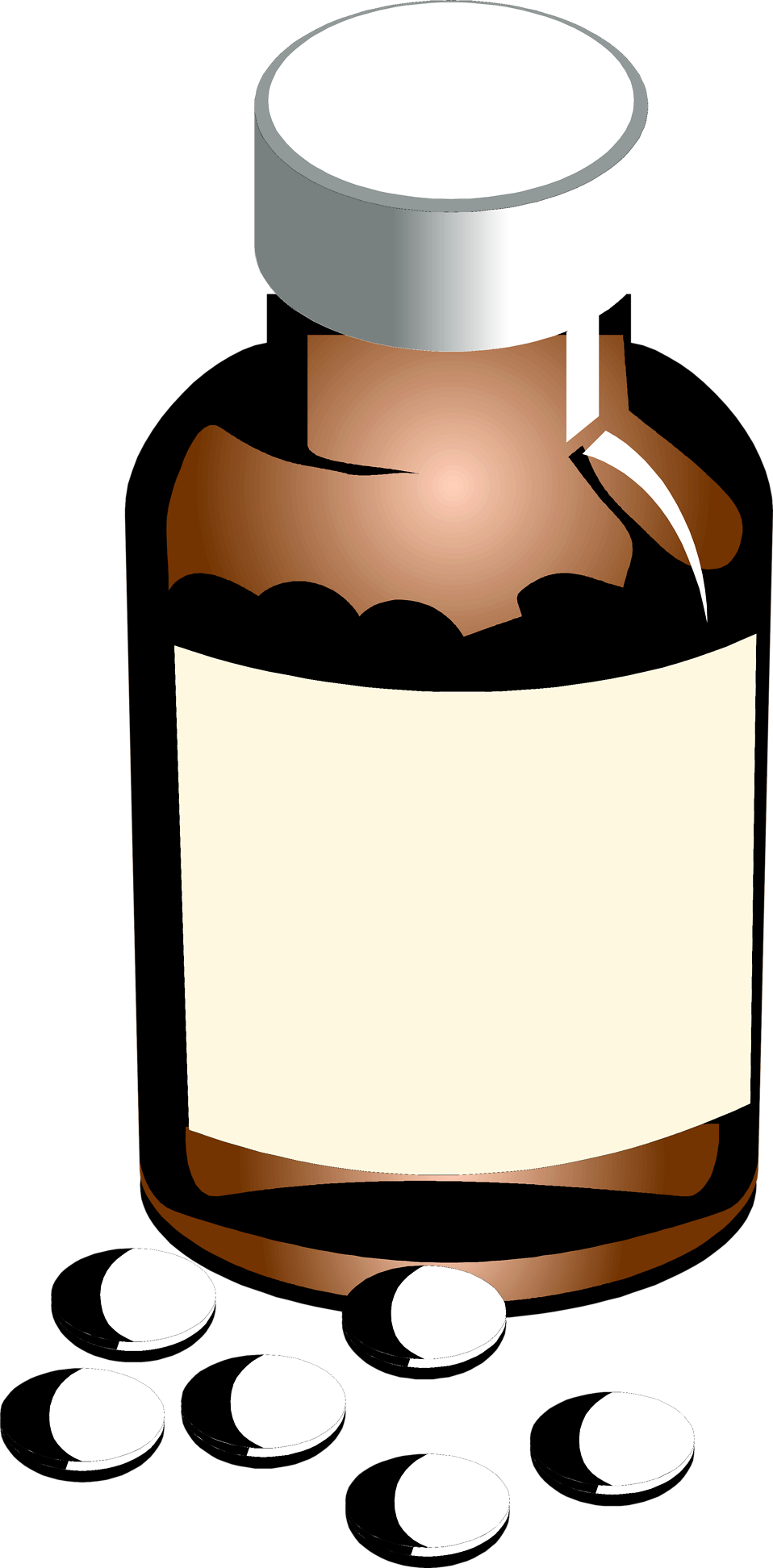 Illustration of a bottle of pills : Free Stock Photo
