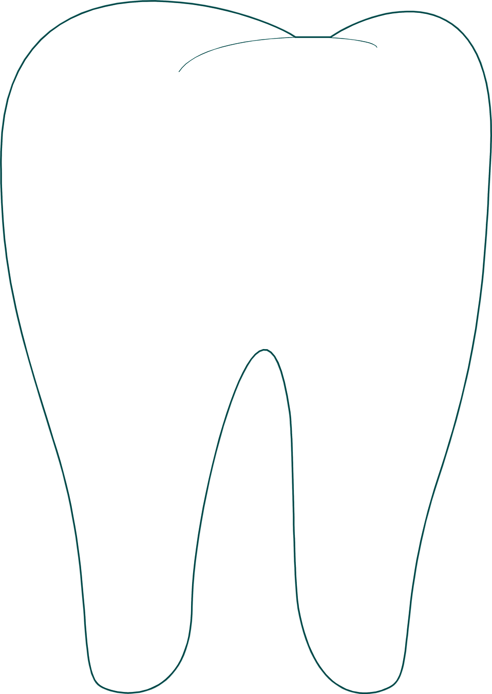 Chalk Transparent Border: Illustration Of A Tooth