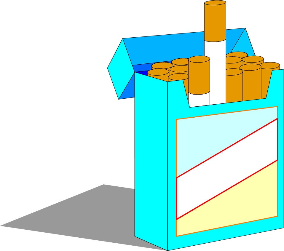 Illustration of a pack of cigarettes : Free Stock Photo