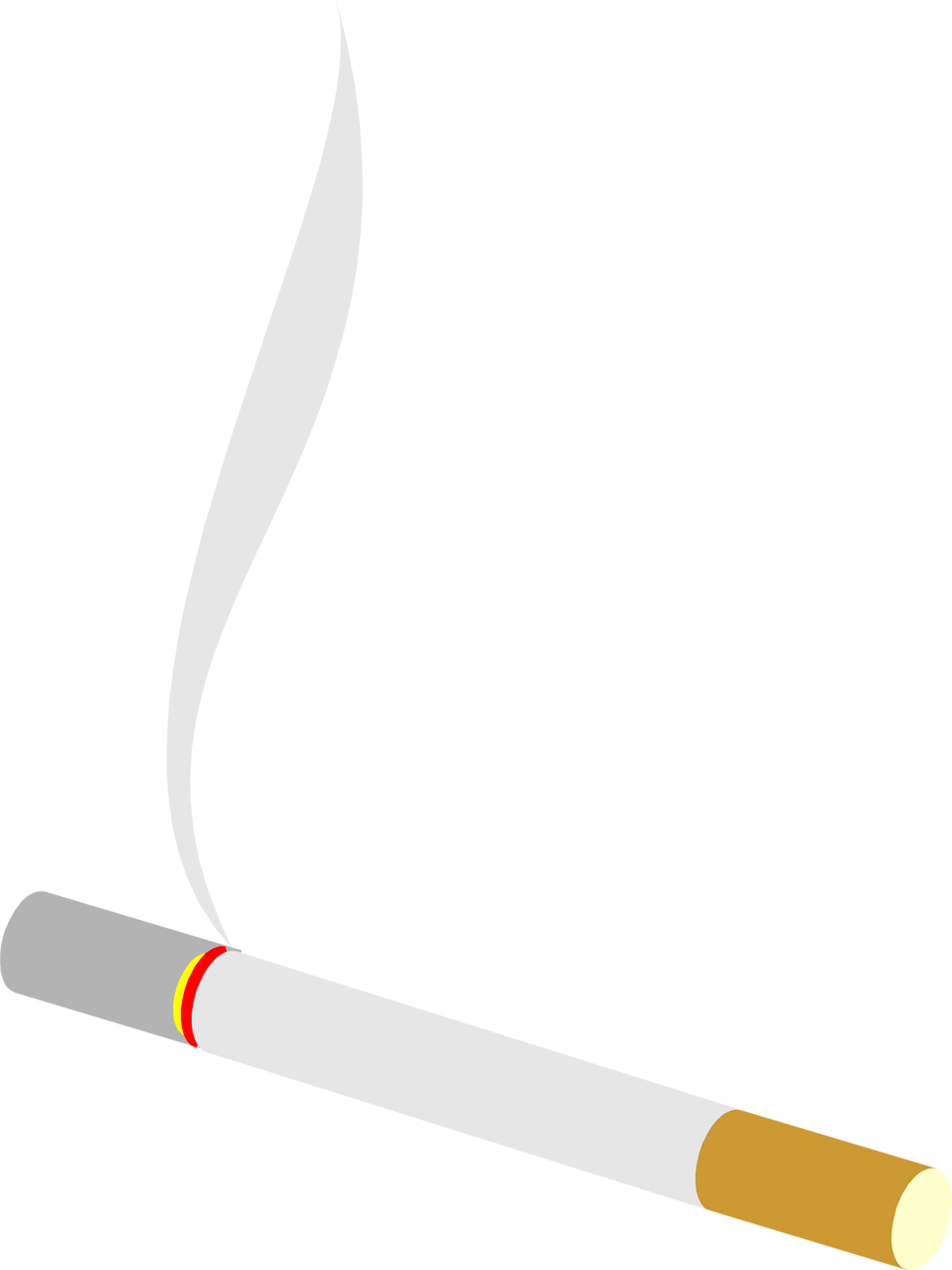 Illustration of a burning cigarette : Free Stock Photo