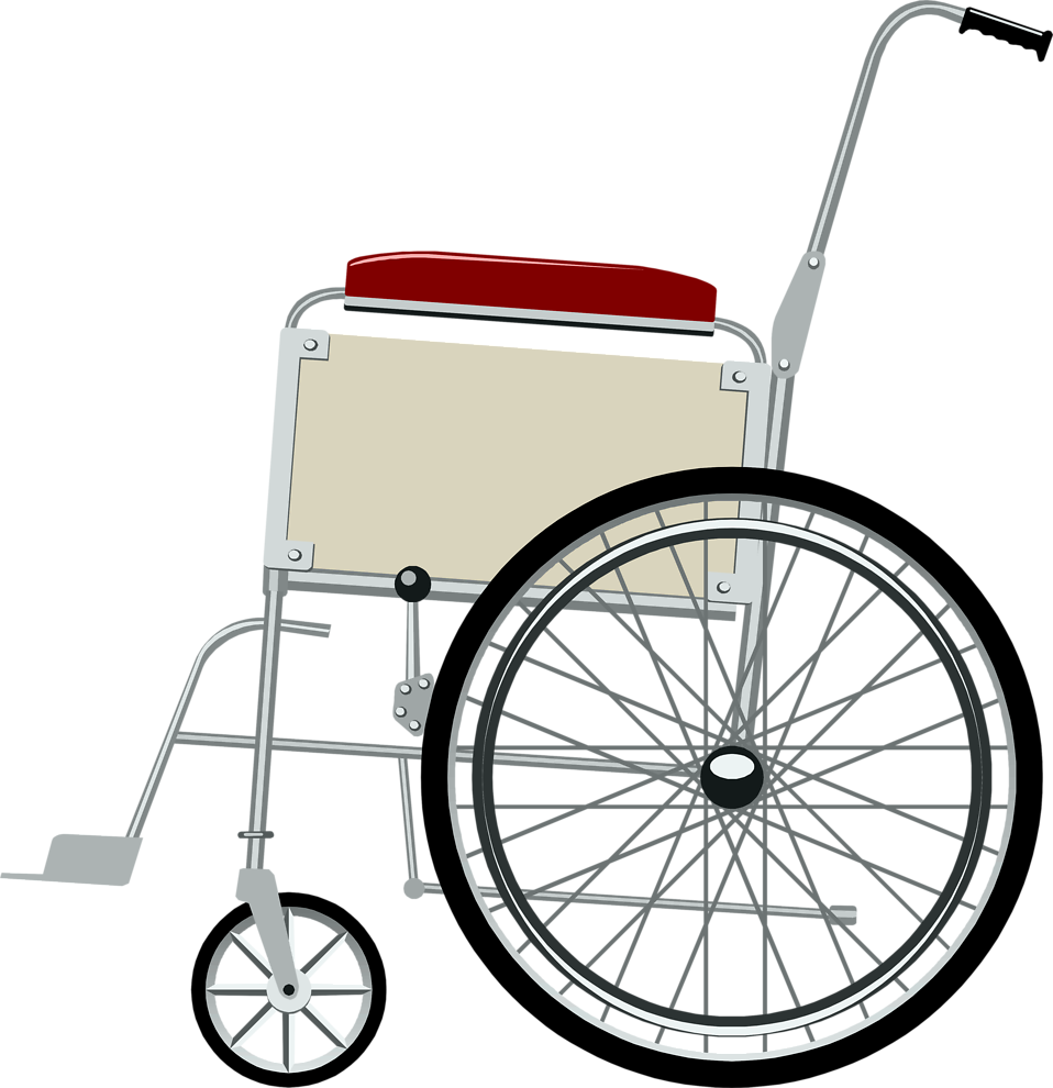 Illustration of a wheelchair : Free Stock Photo