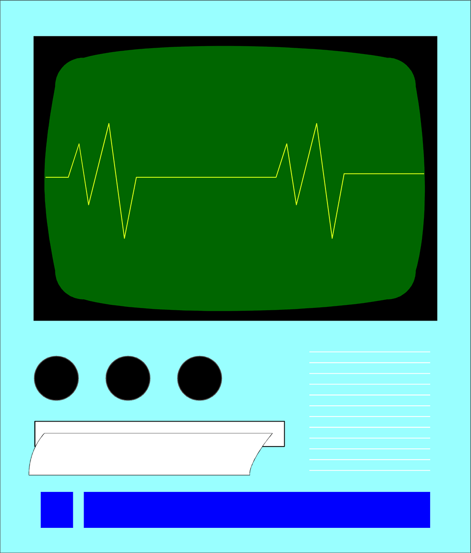 Illustration of an EKG machine : Free Stock Photo