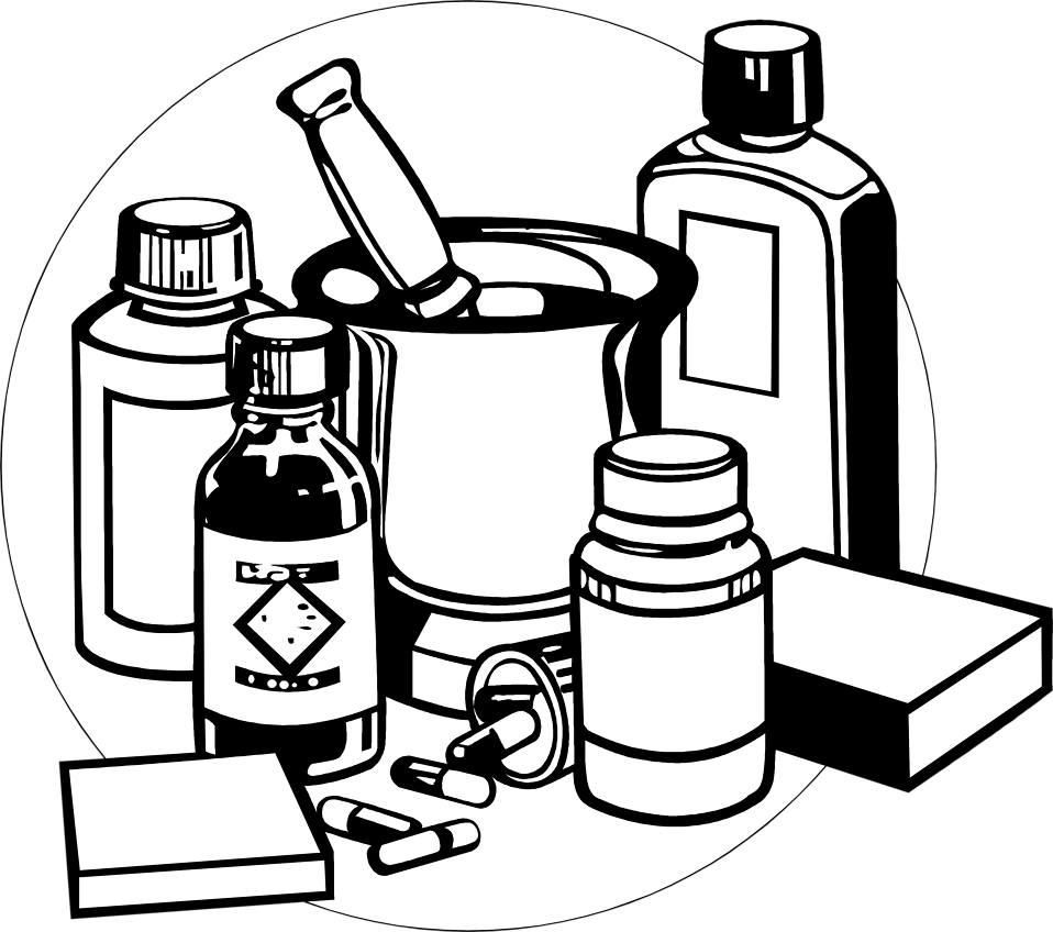 Illustration of various medicines : Free Stock Photo