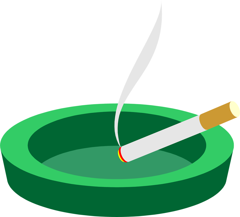 Illustration of a cigarette in an ashtray : Free Stock Photo