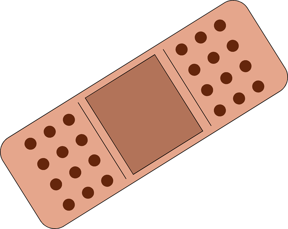 Bandaid Border Illustration of a band-aid.