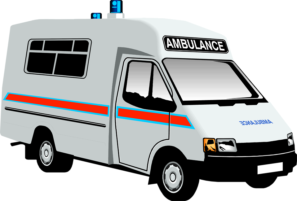 Illustration of an ambulance : Free Stock Photo