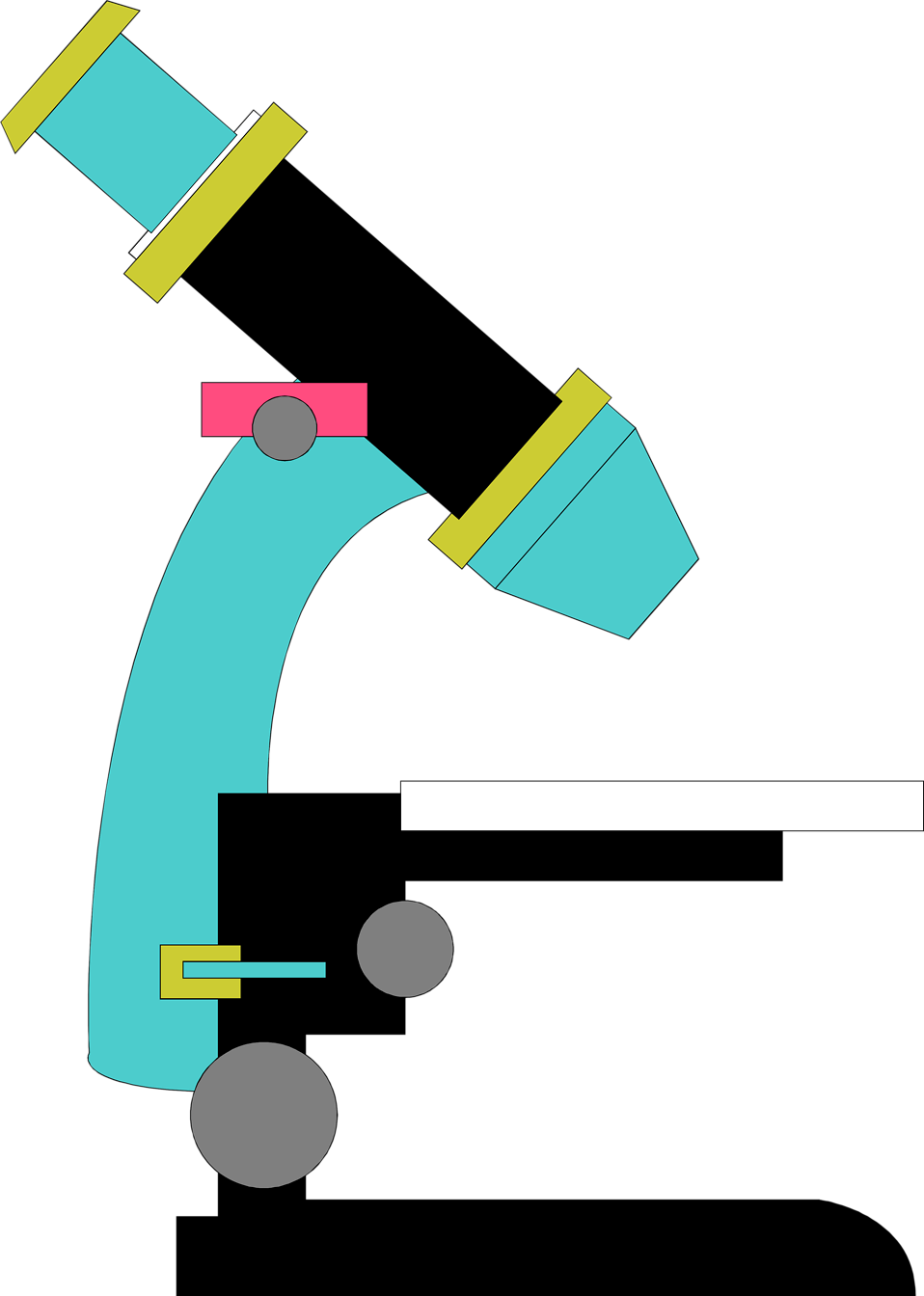 Illustration of a microscope : Free Stock Photo