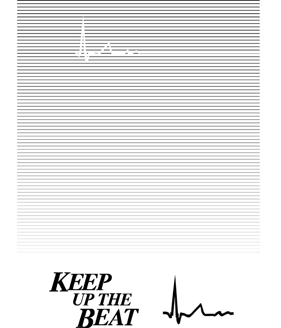 Illustration of an EKG graph with text : Free Stock Photo