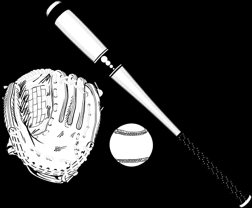 Illustration of baseball equipment : Free Stock Photo