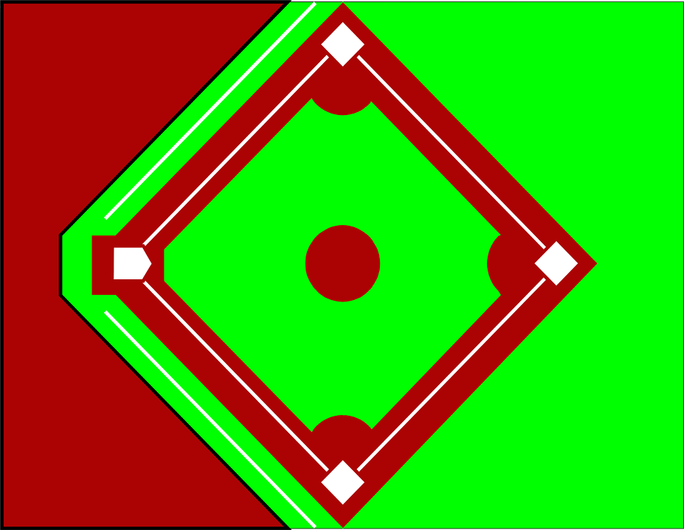 Illustration of a baseball diamond : Free Stock Photo