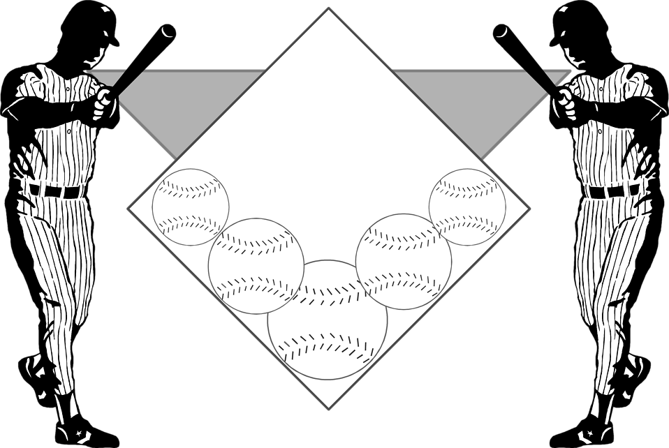 Illustration of a baseball background : Free Stock Photo