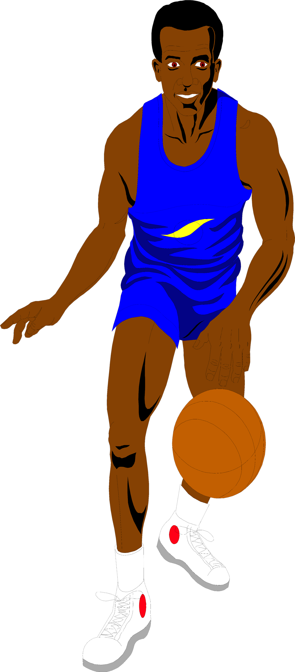 Illustration of an African American basketball player : Free Stock Photo