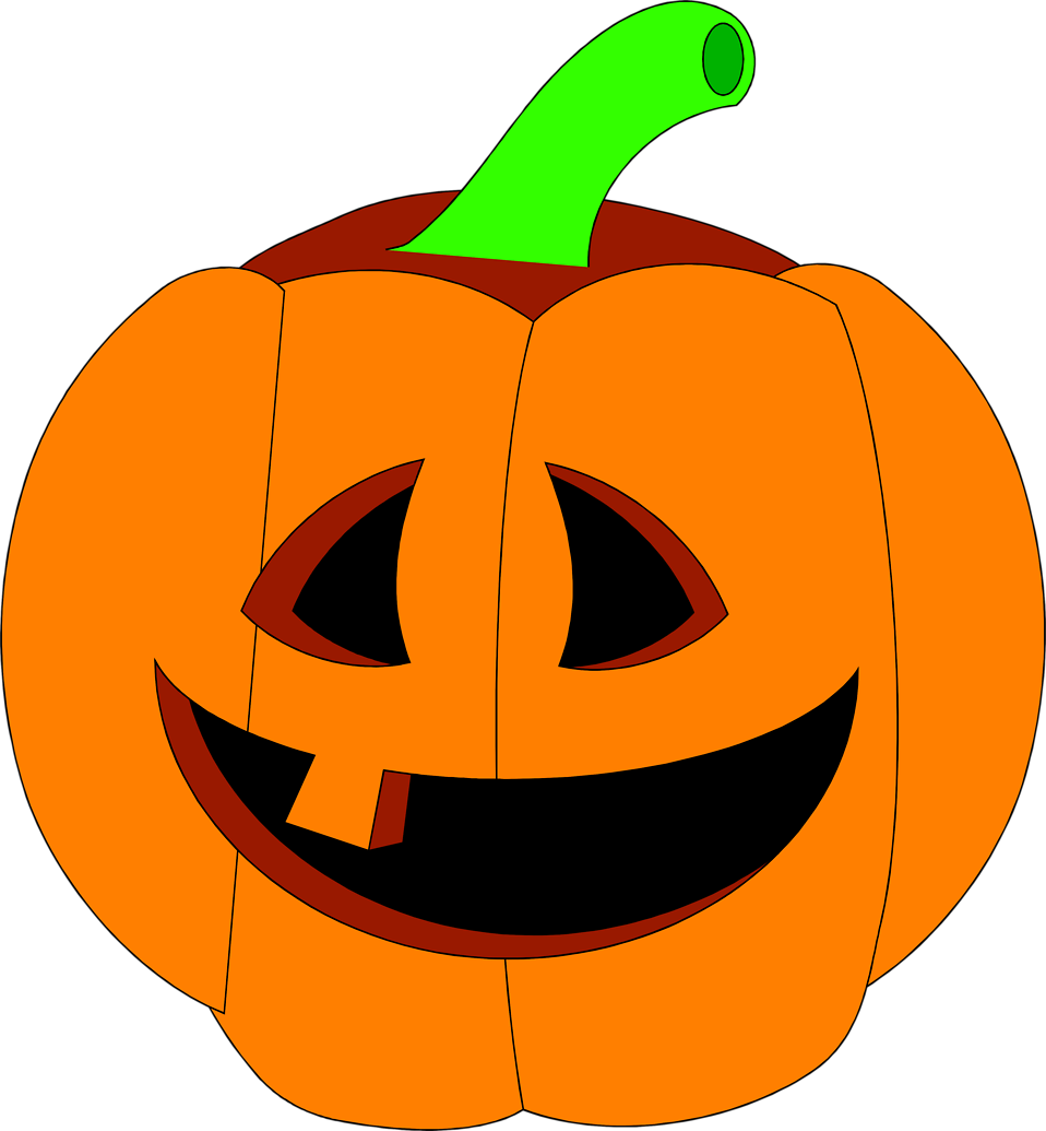Illustration of a jack-o-lantern : Free Stock Photo