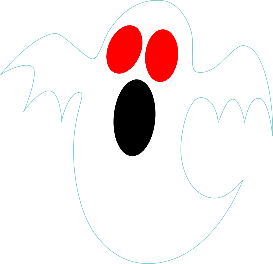Illustration of a red eyed ghost : Free Stock Photo