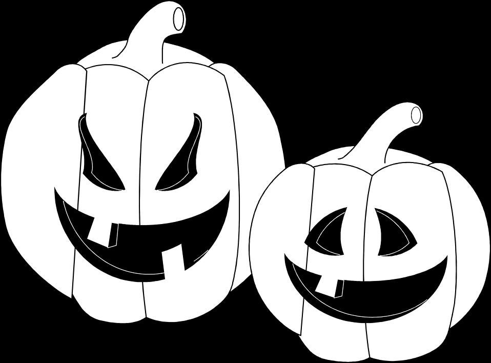 Illustration of two jack-o-lanterns : Free Stock Photo