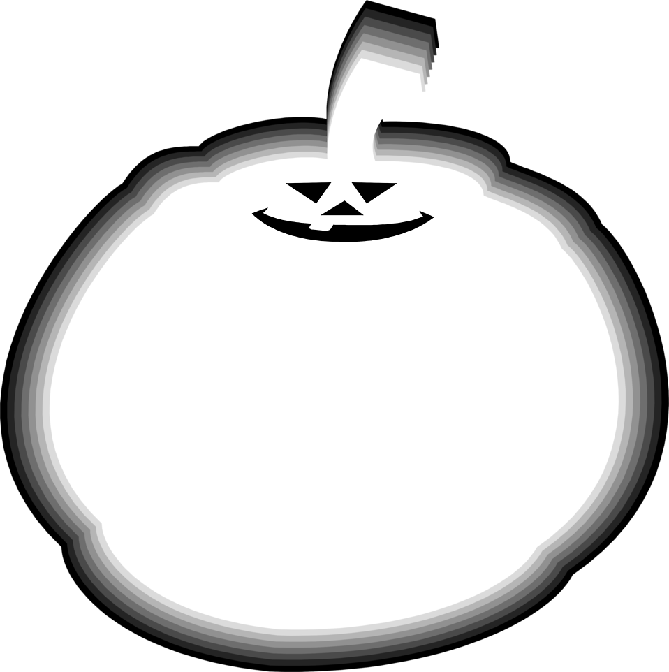 Illustration of a fat jack-o-lantern : Free Stock Photo