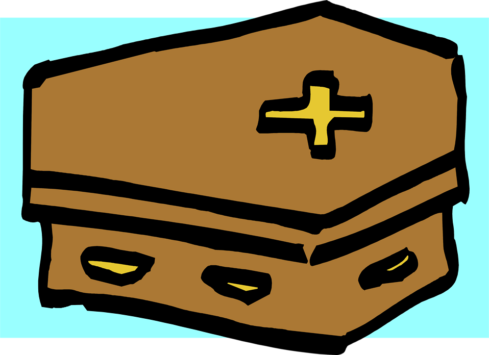 Illustration of a coffin : Free Stock Photo