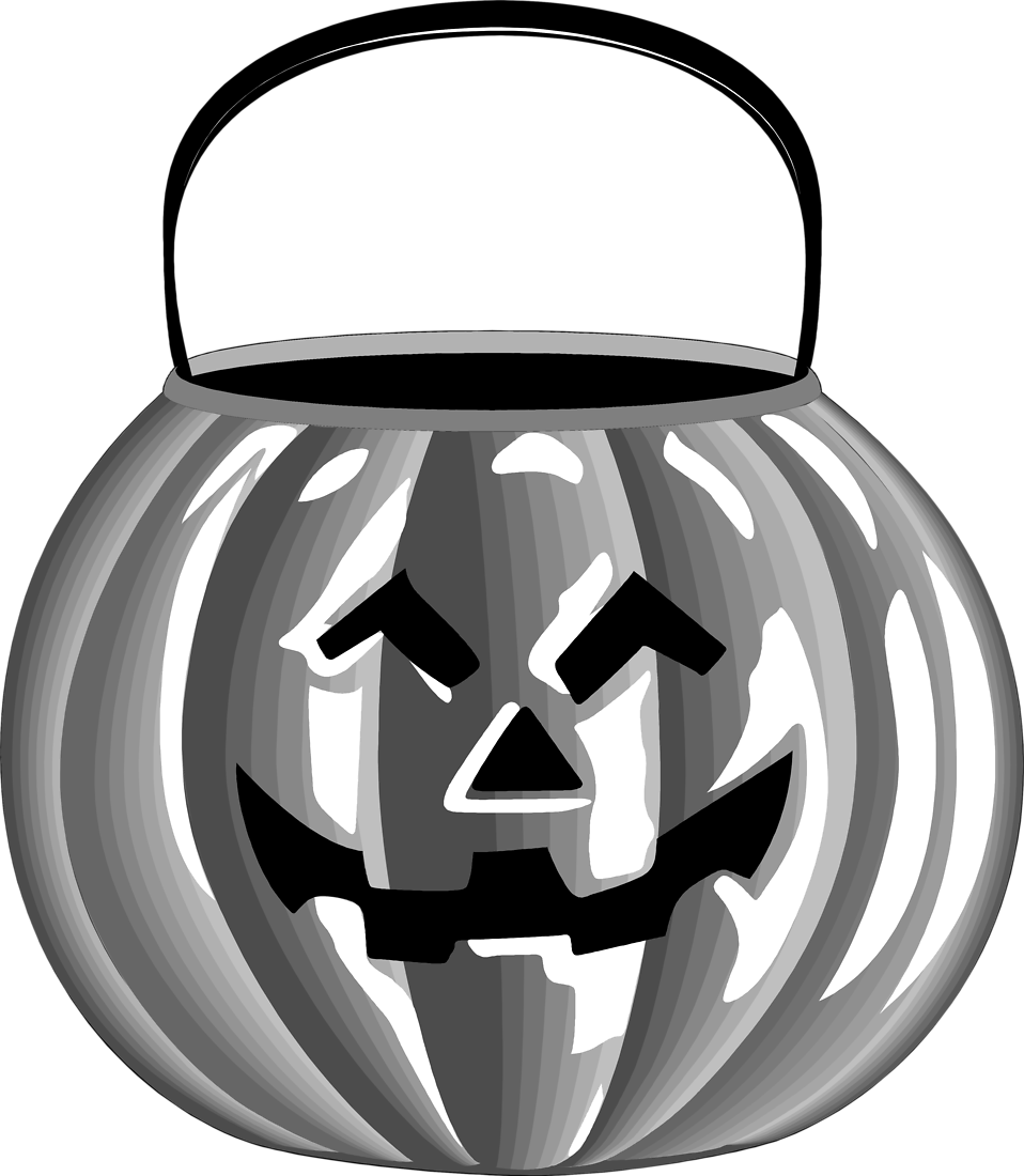 Illustration of a jack-o-lantern candy holder : Free Stock Photo