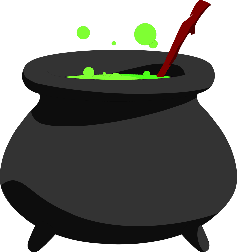 Illustration of a cauldron.