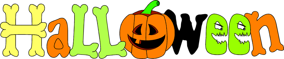 Illustration of halloween text with a jack-o-lantern : Free Stock Photo