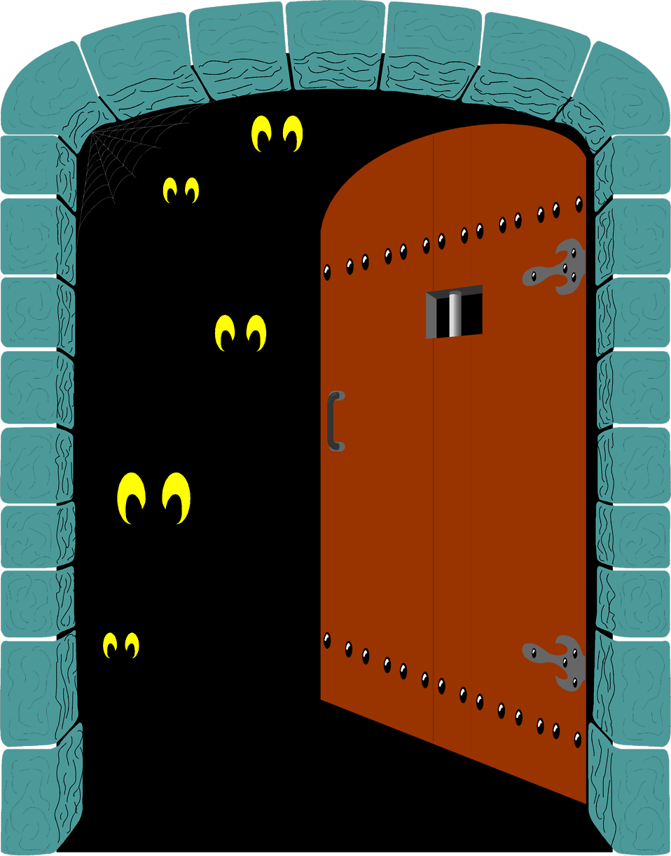 Illustration of a spooky door opening : Free Stock Photo